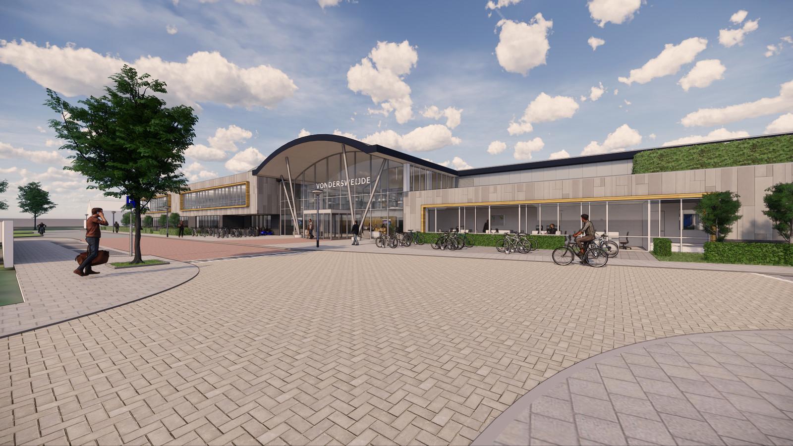 Het nieuwe aanzicht van sportcentrum Vondersweijde.