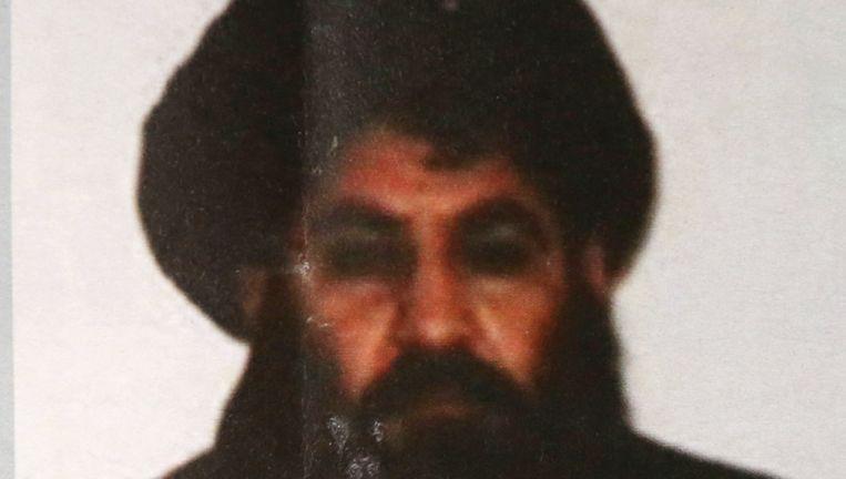 Mullah Mansour op een foto uit 2015. Beeld ap