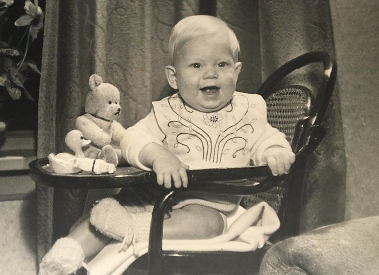Een blakende Jos van de Sande, 10 maanden oud. Beeld