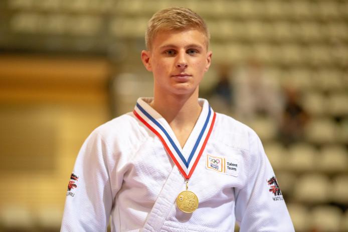 Ennio Mertens uit Roosendaal pakte vorig jaar goud op het NK onder 21 judo.