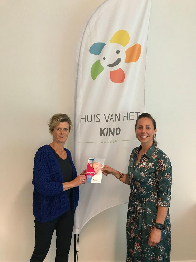 Griet Van Looy (verpleegkundige Kind & Gezin) en Rienel van Beurden (medewerker Huis van het Kind Arendonk)
