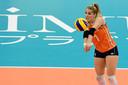 Kirsten Knip uitkomend voor Oranje.