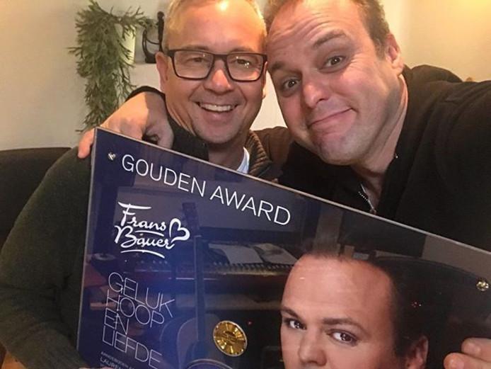 Gouden Plak voor Frans Bauer