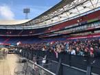 Veel fans bij training van Feyenoord in De Kuip