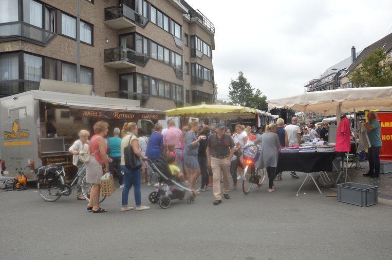 De markt in Ninove.