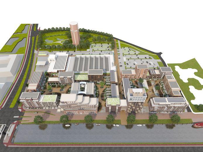 Impressie van het nieuwbouwproject Oranjekade in Helmond.