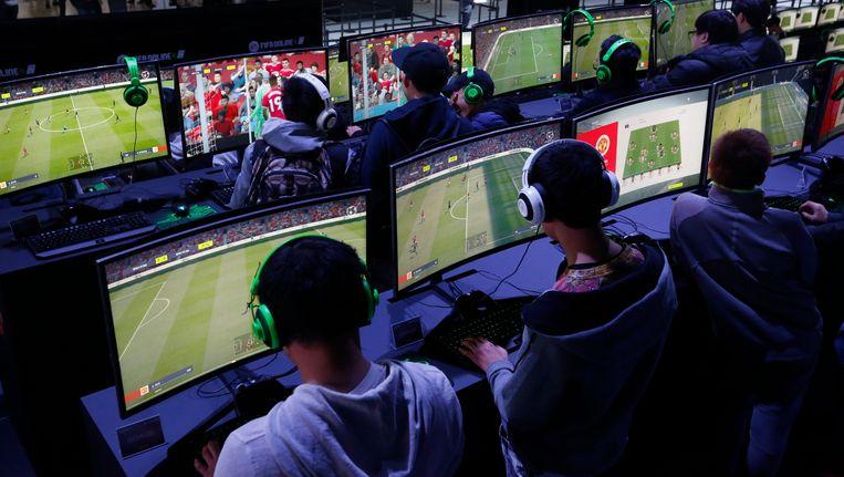 Nooit eerder stonden twee landen tegenover elkaar met het spel Fifa Beeld epa