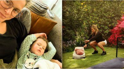 SHOWBITS. Dina Tersago voelt zich soms een slechte mama en Nathalie Meskens sport met pasgeboren dochter