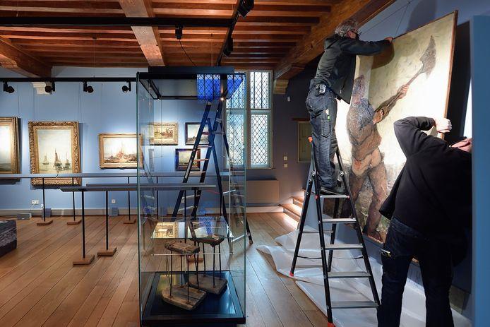 De expositie 'Koele Wateren' in het Markiezenhof hangt al een paar weken klaar om bezoekers te ontvangen. Vanaf donderdag mogen de deuren van het museum weer open.