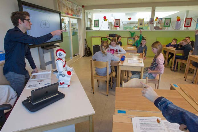 Robot Nao te gast op een basisschool
