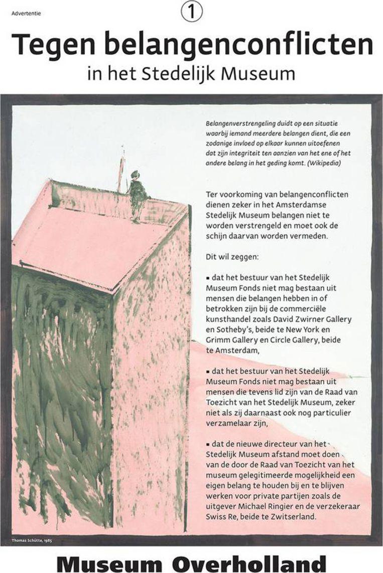 De advertentie van Christiaan Braun Beeld archief