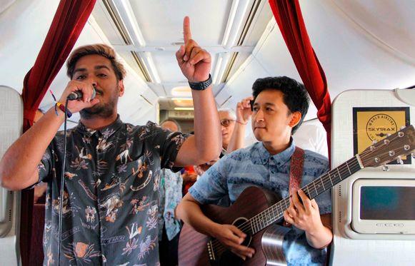 De twee jonge muzikanten die woensdag de primeur kregen.