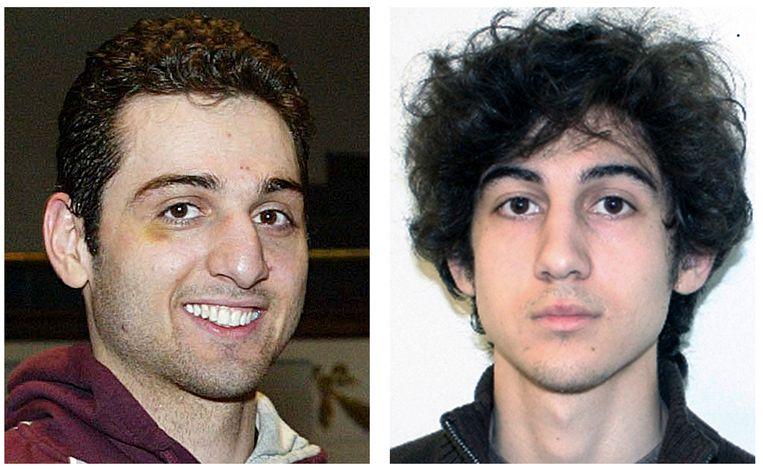 De broers Tamerlan en Dzhokhar Tsarnaev, die de aanslag op de marathon in Boston pleegden.