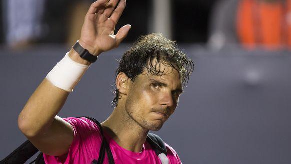 Rafael Nadal na de nederlaag tegen Fabio Fognini.