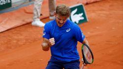 Indrukwekkende Goffin tankt vertrouwen en staat in tweede ronde Roland Garros