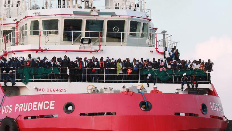 Artsen zonder Grenzen was tot dusver met het schip Vos Prudence actief op de Middellandse Zee.