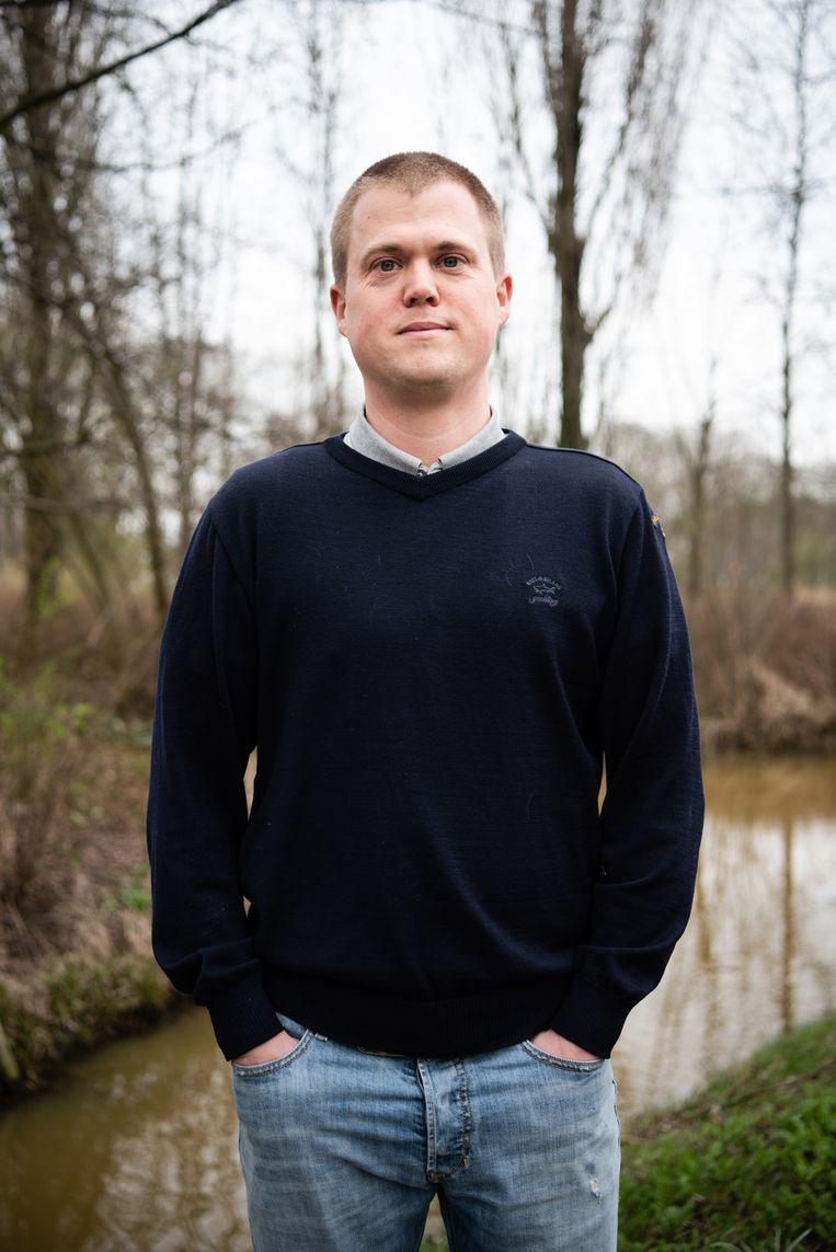 FvD-stemmer Wessel Sleeking.  Beeld Katja Poelwijk