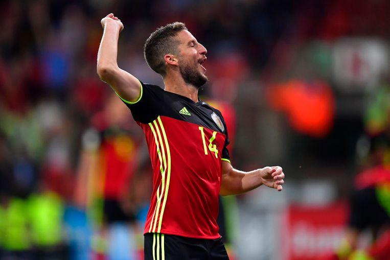 De Belgen stapelen de doelpunten op tegen Gibraltar. Het wordt 9-0 in een kwalificatiematch voor het WK 2018.