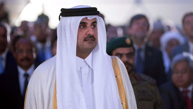 De emir van Qatar, Tamim bin Hamad al-Thani Beeld afp