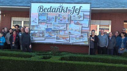 Buren Asterweg bedanken Jef voor raamschilderingen