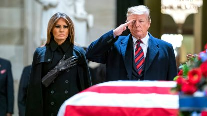 Trump groet overleden oud-president George H.W. Bush