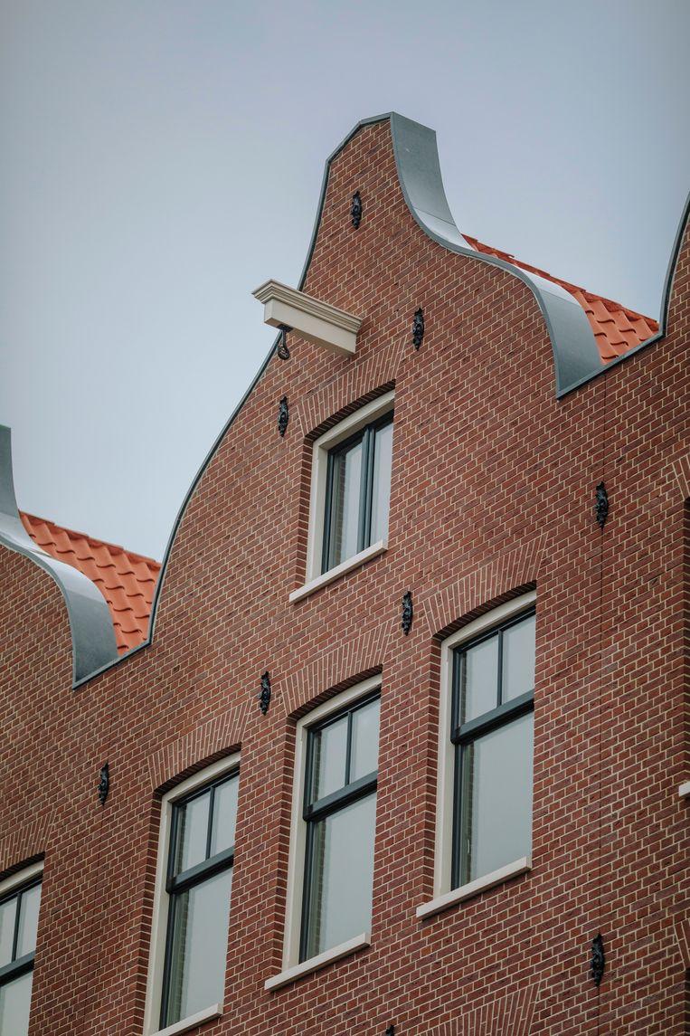 Het winnende nieuwbouwproject aan de Eerste Oosterparkstraat. Beeld Marc Driessen