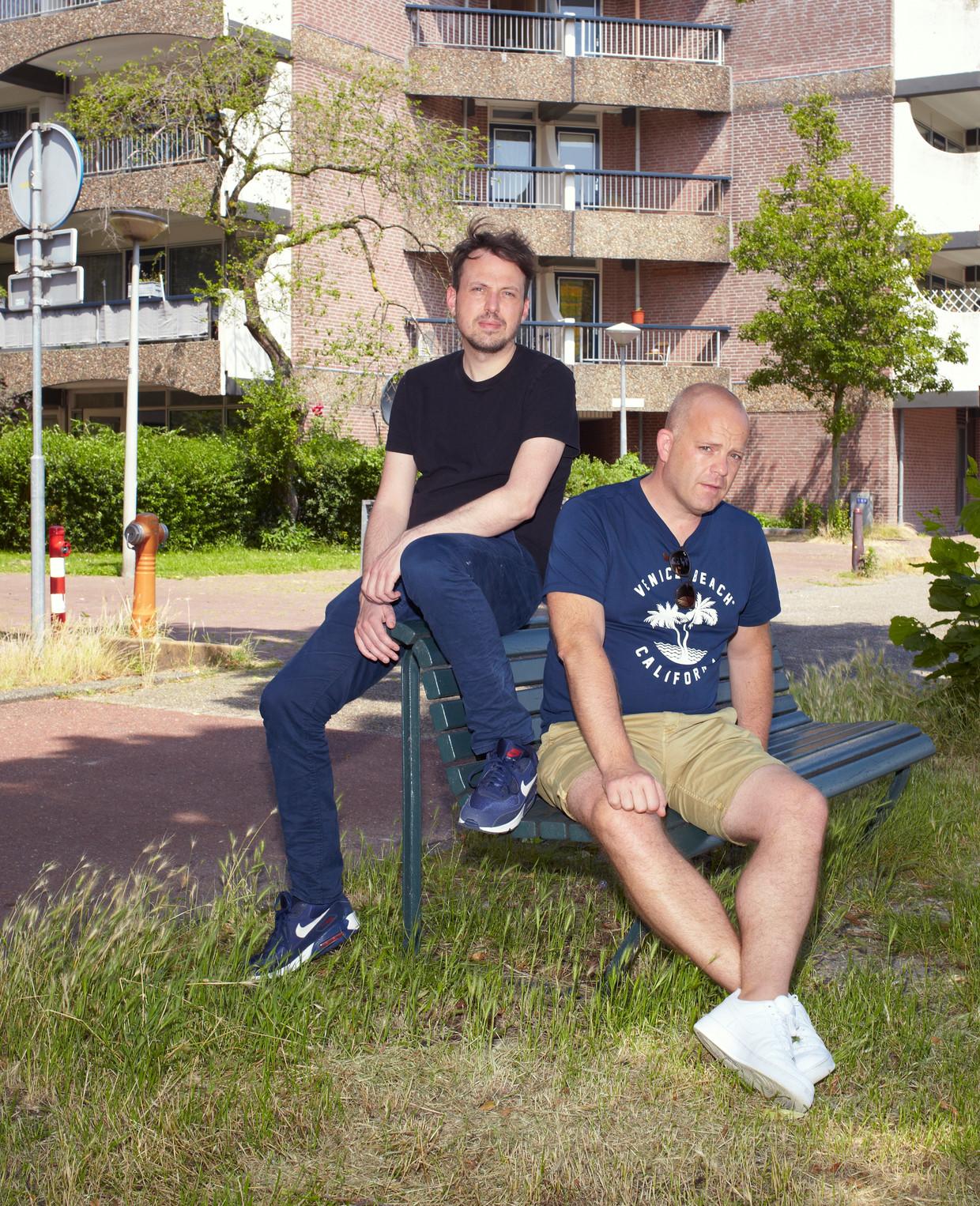 Wouter Laumans (r) en Marijs Schrijver.  Beeld Daniel Cohen