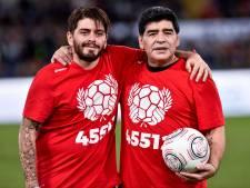 Maradona junior beleefde afscheid van vader vanuit Napels: 'Ik heb de hele week gehuild'