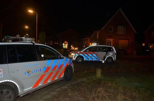 Politie op de Teubenweg na de schietpartij.