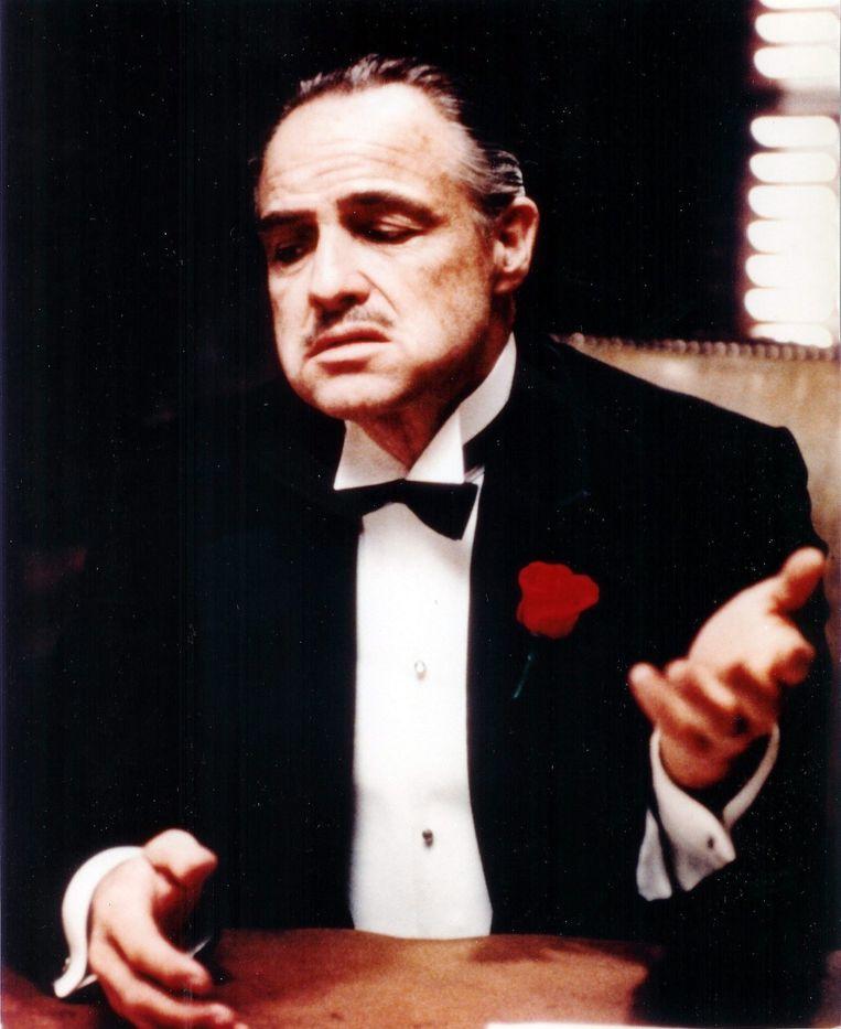 Marlon Brando in zijn legendarische rol in 'The Godfather' Beeld epa