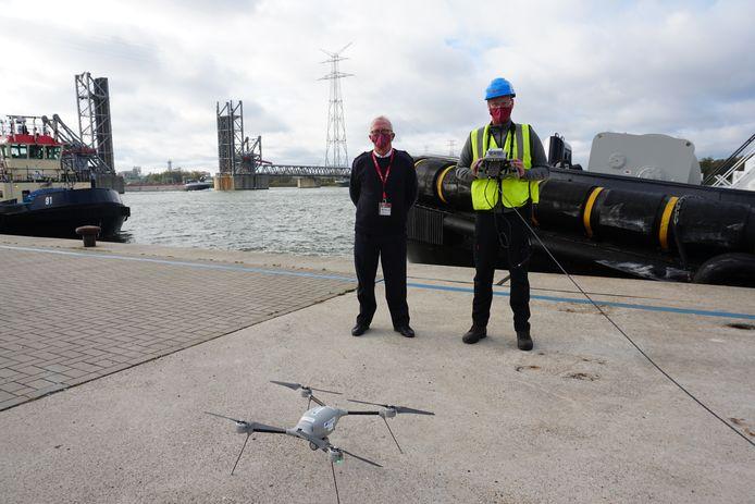 Port of Antwerp kreeg van de European Maritime Safety Agency een drone en piloot ter beschikking tot eind dit jaar.