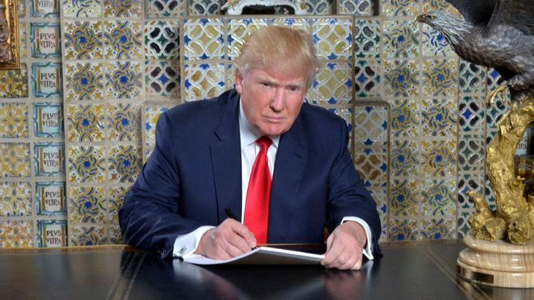 Trump druk aan het schrijven aan zijn inauguratiespeech Beeld