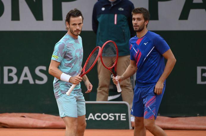 Wesley Koolhof (l) en zijn partner Nikola Mektic.