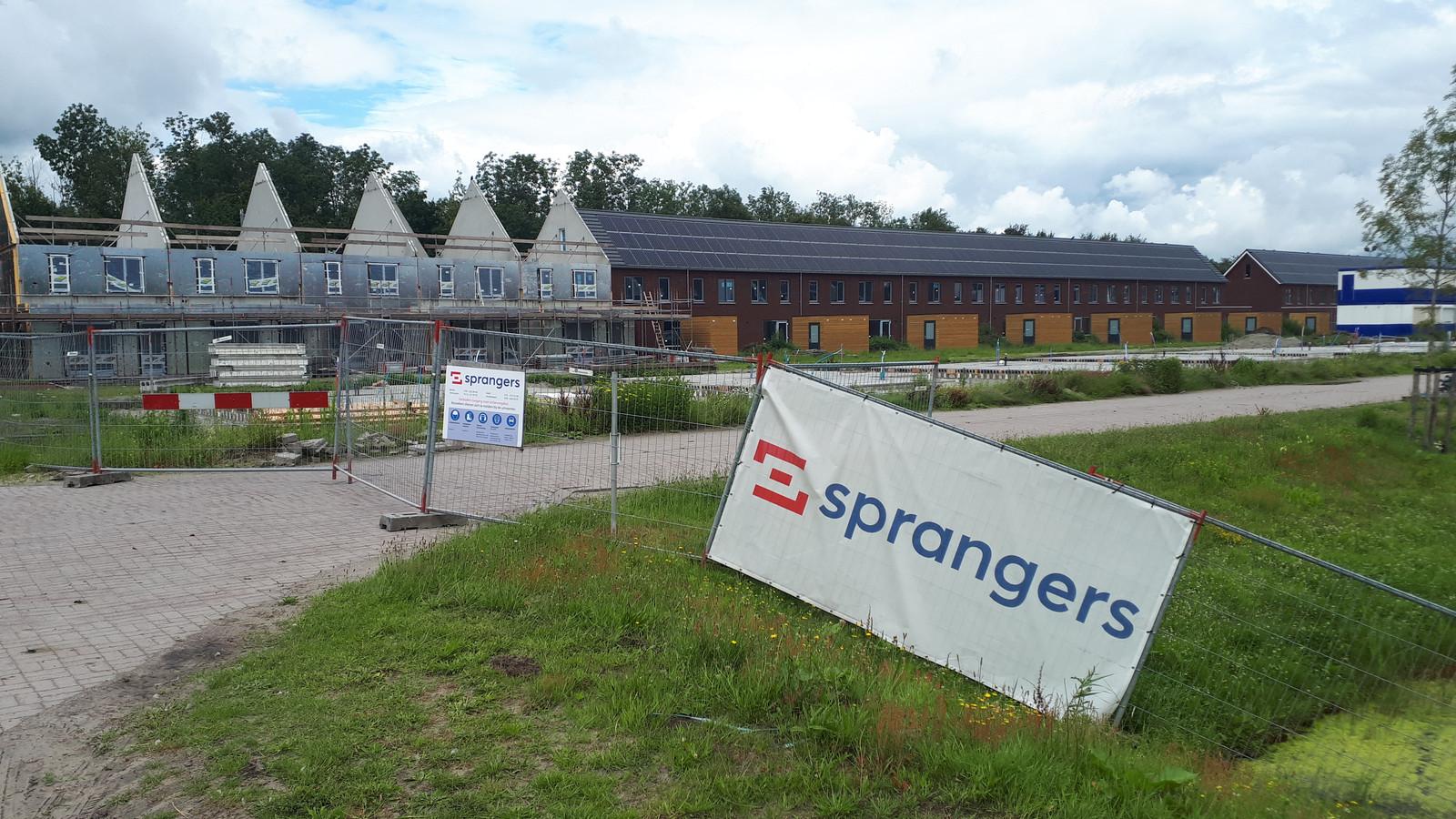 Nieuwbouwwijk De Streek in Etten-Leur ligt momenteel stil door het faillissement van bouwbedrijf Sprangers