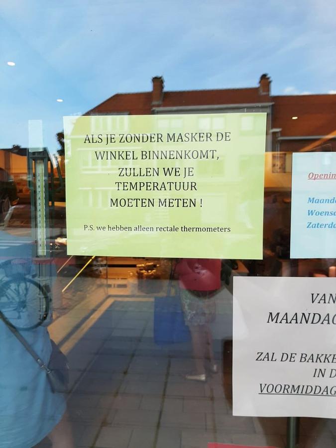 À la boulangerie Ivens, située à Waasmunster en Flandre-Orientale, il vaut mieux ne pas entrer sans masque buccal.