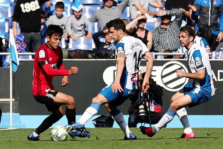 Takefusa Kubo (links) tegen Espanyol.