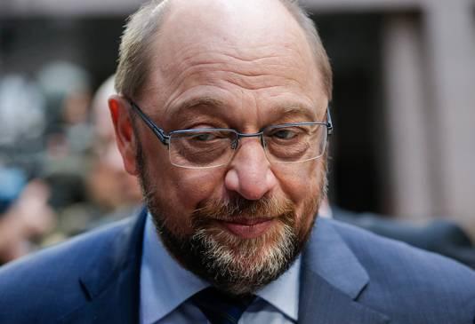 Voorzitter Martin Schulz van het Europees Parlement.