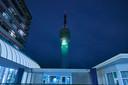 Projectie TV toren 750 jaar Roosendaal, opening feestjaar