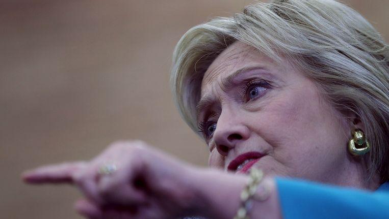 Hillary Clinton op campagne in Riverside in Californië. Beeld Getty