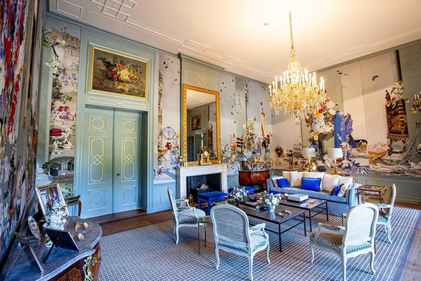 De Groene zaal in paleis Huis ten Bosch. De woning van koning Willem-Alexander en zijn gezin is de afgelopen jaren opgeknapt.
