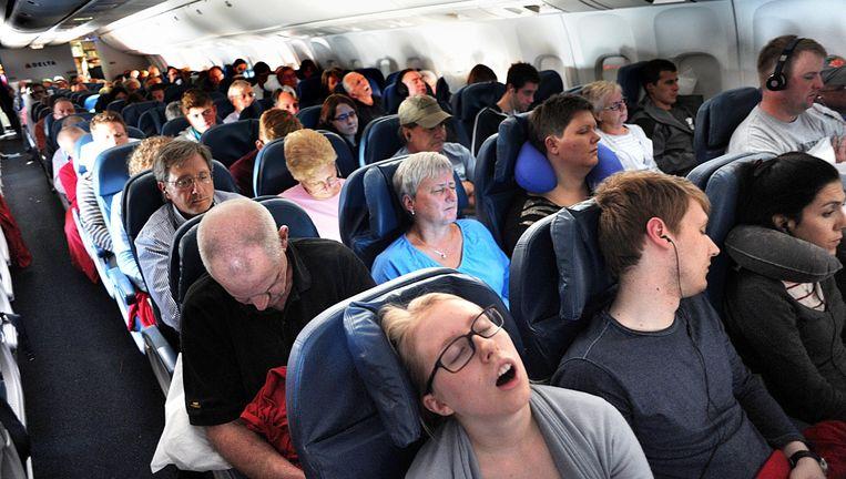 Vlucht van Amsterdam naar Atlanta met Delta Airlines. Beeld Piet den Blanken / HH