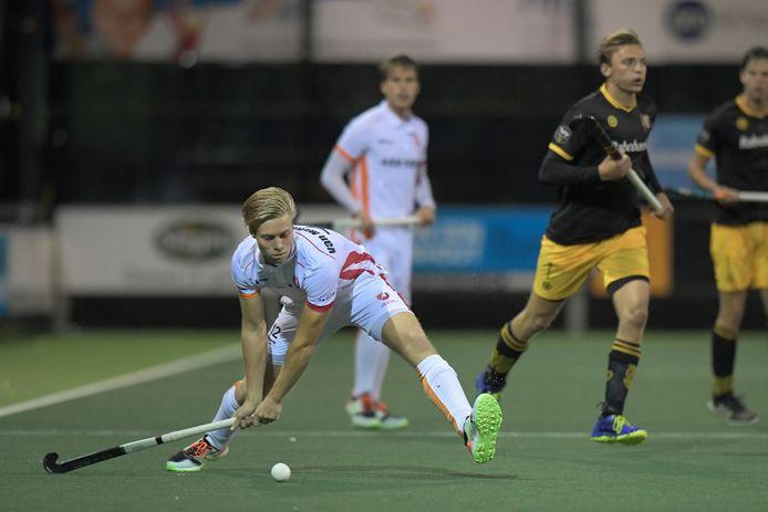 Gijs van Merriënboer manifesteert zich bij Oranje-Rood. Ook tegen Den Bosch speelde hij sterk.