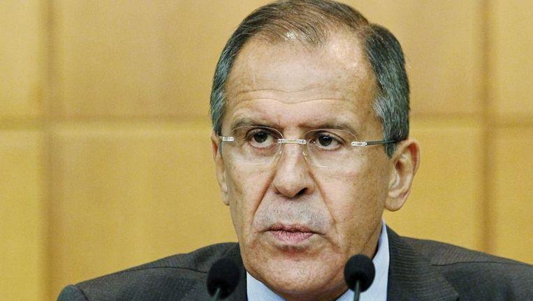 De Russische minister van Buitenlandse Zaken Sergei Lavrov Beeld reuters