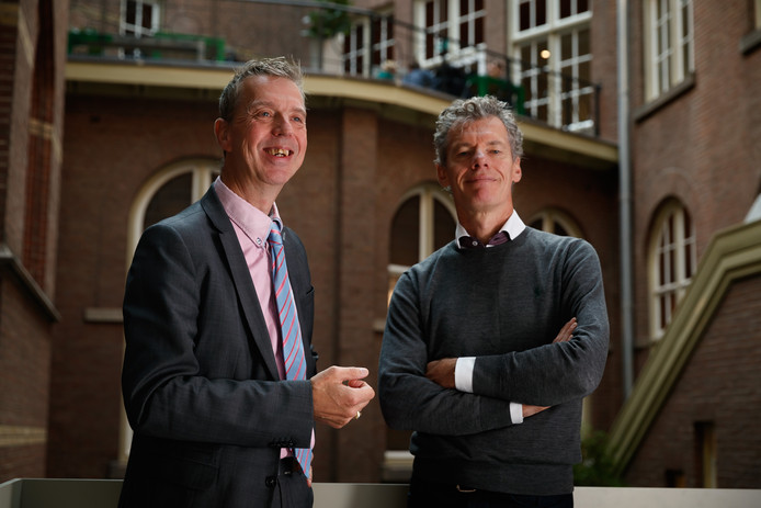 TNO-man Kees d'Huy (links) en Taskforce-directeur Caspar Hermans