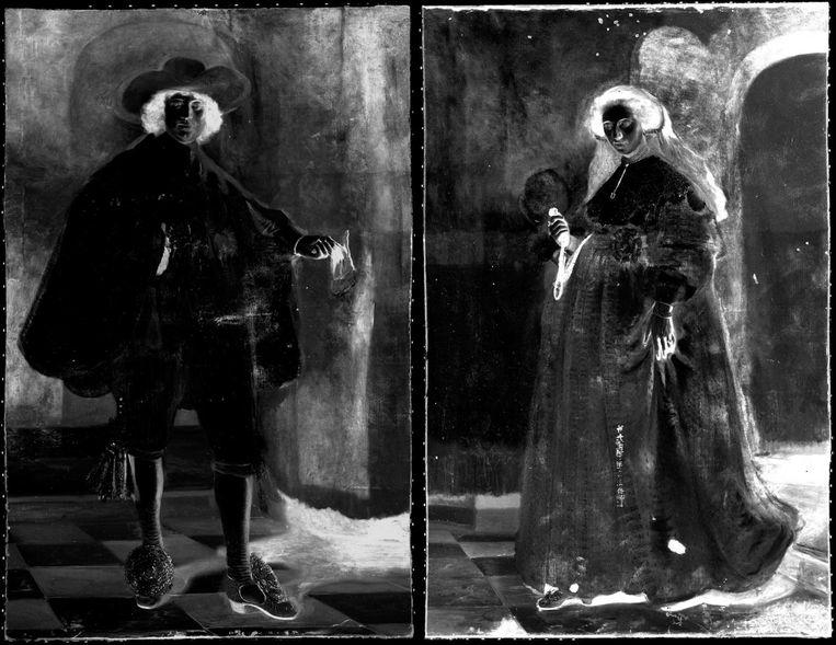 In het atelier van het Rijksmuseum wordt de laatste hand gelegd aan de opknapbeurt van Rembrandts Marten en Oopjen Beeld Rijksmuseum