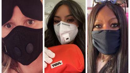 IN BEELD. Beroemdheden poseren massaal met mondmaskertje tegen coronavirus (ook al helpen die niet echt)