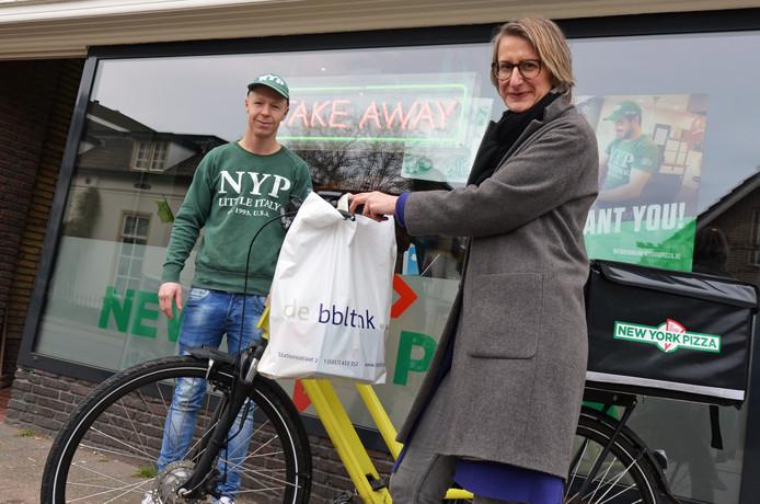De bblthk mag fietsen van New York Pizza gebruiken