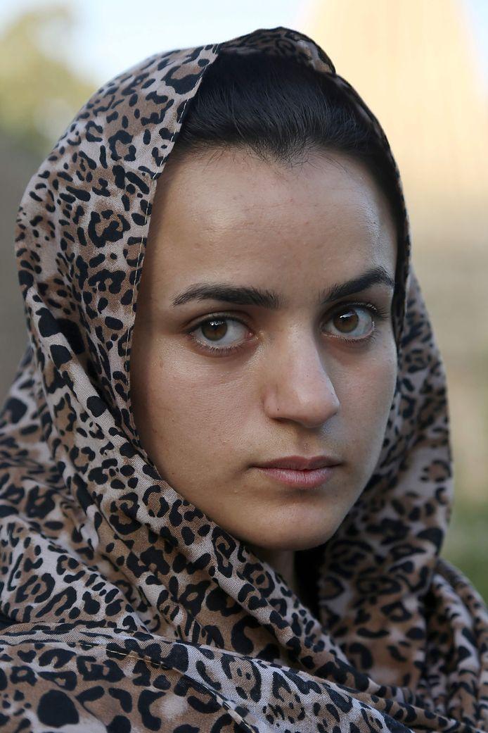 Ashwaq Haji dacht in Duitsland veilig te zijn na haar ontsnapping uit handen van een IS-strijder die van haar een seksslavin maakte. Als ze de man ontmoet in Gmünd vlucht ze opnieuw, terug naar Irak. Foto AFP