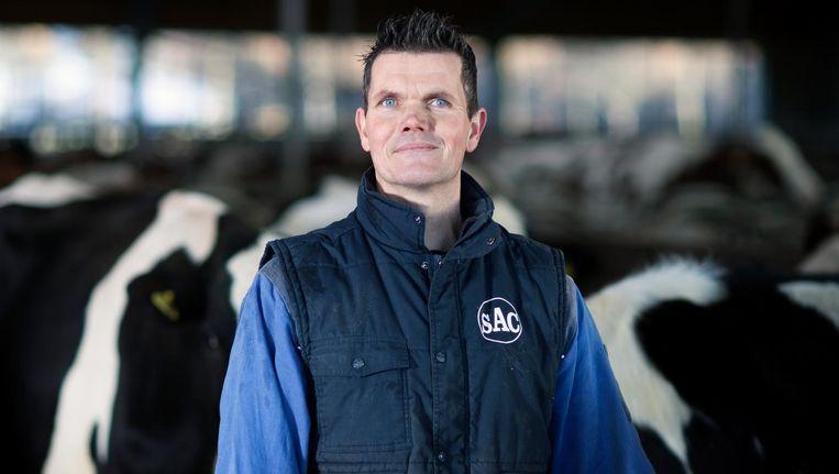 Jawin Klein Hegeman breidde zijn melkveebedrijf vorig jaar uit naar bijna 200 koeien. Beeld Hanne van der Woude