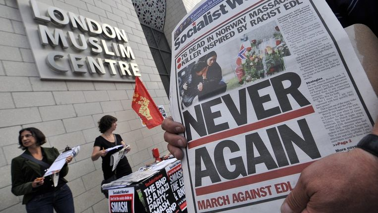 Er wordt actie gevoerd tegen de EDL in 2011 Beeld epa